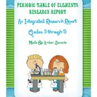 Periodic Table of Elements Research Report for ELA and Sci