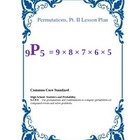 Permutations and Factorials Lesson Plans