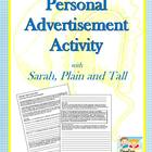 Personal Advertisement Writing Activity