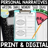 Personal Narrative Unit for 2nd-4th Grade {Supports Common Core}