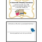 Personal Narrative Mini Book Writing Activity - A shopping