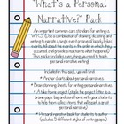 Personal Narrative Pack