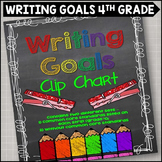 Personal Writing Goals Clip Chart - Grade 4