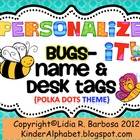 Personalize it! Cute Bugs- Name and Desk Tags