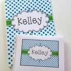 Personalized Notebook & Matching Notecards {Hard Good}