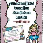 Personalized Teacher Business Cards {Editable}