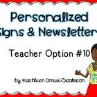 Personalized Teacher Materials: Option #10
