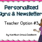 Personalized Teacher Materials: Option #3