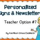 Personalized Teacher Materials: Option #7