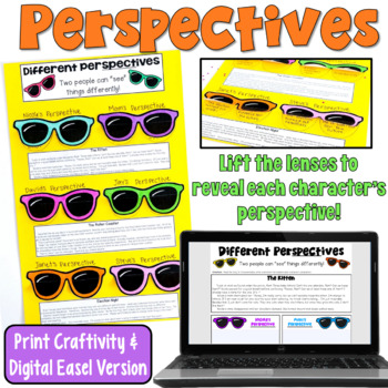 http://www.teacherspayteachers.com/Product/Perspectives-Craftivity-Identify-Differing-Points-of-View-755787