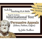 Informational Text Close Reading Activity {Ethos, Pathos, Logos}