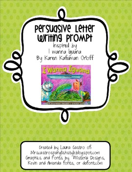 Persuasive Pet Letter - English or Spanish Prompt