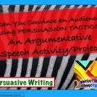 Persuasive Speech &amp; Visual Aid Project with Rubric