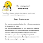 Persuasive Writing Activity