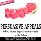 Persuasive Appeals Ethos Pathos Logos: A Creative Workshee