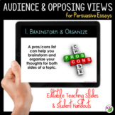 Persuasive Writing Lesson: Audience and Opposing Views