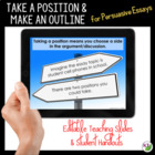 Persuasive Writing Lesson: Take a Position and Make an Outline