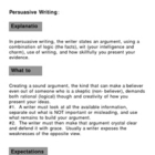 Persuasive Writing Lesson