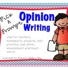 Persuasive Writing Pick a Prompt (common core aligned)
