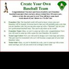 Persuasive letter writing project: create own MLB baseball