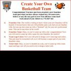 Persuasive letter writing project: create own NBA basketba