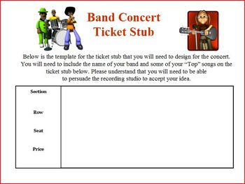 Persuasive letter writing project: create own band name fo
