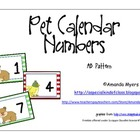 Pet Calendar Numbers AB Pattern