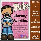 Pet Literacy Work Station Activities