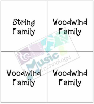 Peter and the Wolf Instrument Family Memory Game
