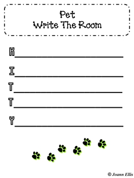Pets Write Around the Room