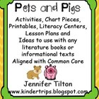 Pets and Pigs Literacy Unit-Activities and Literacy Center