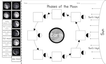 Phases of the Moon Cut and Paste