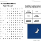 Phases of the Moon Word Search
