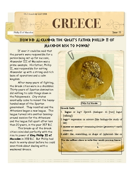 Phillip II of Macedon, Alexander's Great Father: Greece by
