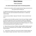 Phineas Gage a Gruesome but True Story of Brain Science WORKSHEET