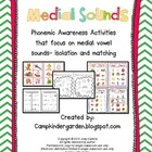 Phonemic Awareness - Middle Sounds Matching and Isolation Pack
