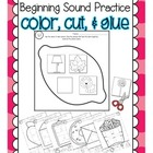 Phonemic Awareness Practice: Beginning Sounds [Color, Cut,