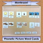 Phonetic Picture Word Cards ~ 3-part Montessori cards