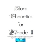 Phonetics for Grade 1 More