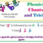 Phonic Chants and Tricks Posters (Plain Font