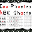 Phonics ABC Charts: Zoo Animals (Common Core Connection)
