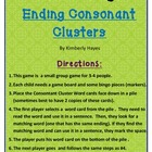 Phonics Activity/Guided Reading: Ending Consonant clusters