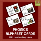 Phonics Alphabet With Real Images and Handwriting Lines -