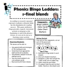 Phonics Bingo Ladders Supplement- Final S Blends (sk, st, sp)
