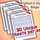 Phonics Bingo - Short U