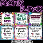 Phonics Bundle Pack- CVC, CVCC, CCVC, Magic E and L Blends