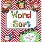 Christmas Inspired Phonics Word Sort Freebie With Blends (