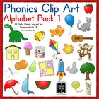Phonics Clip Art:  Alphabet Pack 1 COLOR