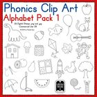 Phonics Clip Art:  Alphabet Pack 1
