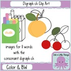 Phonics Clip Art: Consonant Digraph ch clipart